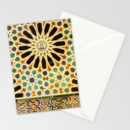 """""""Mexuar room"""". Details in The Alhambra Palace.  Stationery Cards"""