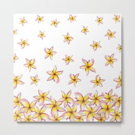 Lillies - Handpainted pattern - white background Metal Print