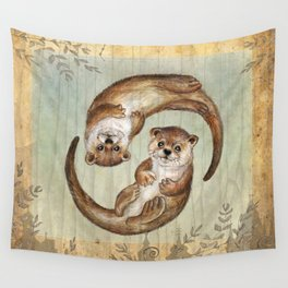 OTTERs over Praha Wall Tapestry