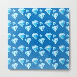 many faceted diamonds Metal Print