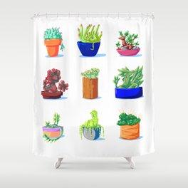 Succulent Dragons Shower Curtain