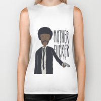 pulp Biker Tanks featuring Pulp Fiction by Molnár Roland