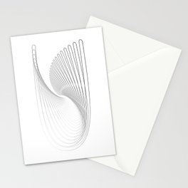 """""""Fly Collection"""" - Abstract Minimal Letter U Print Stationery Cards"""
