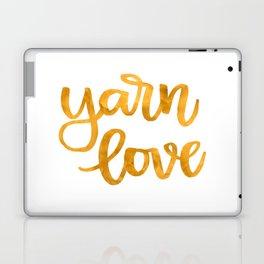 Yarn Love - Mustard Laptop & iPad Skin