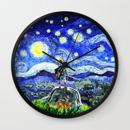 triforce link starry night Wall Clock