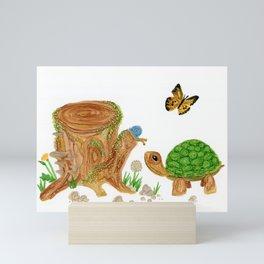 Slow and Shelled Mini Art Print