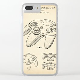 Game controller vintage Clear iPhone Case
