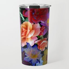 Colorful Fractal Flowers Travel Mug