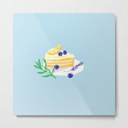 Lemon Blueberry Cake/ Lavender/Summer vibe Metal Print
