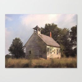 State Rd. Schoolhouse Canvas Print