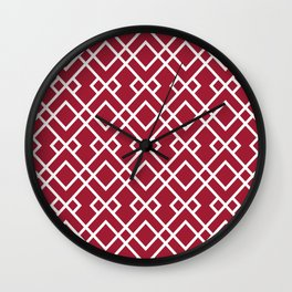 University of Alabama colors trendy patterns minimal pattern college football sports Wall Clock