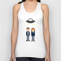dana scully Tank Tops featuring Mulder & Scully by Evelyn Gonzalez