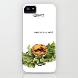La Cuisine Fusion - Pastel de Nata Salad iPhone Case