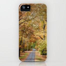 Autumn Passage 2 - Fall Landscape Scene iPhone Case