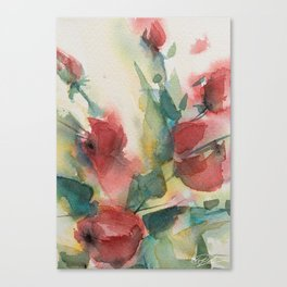 Roses 2 (watercolor) Canvas Print