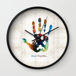 Rainbow Bridge Art - Never Forgotten - By Sharon Cummings Wall Clock