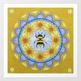Honey Bee Mandala Art Print