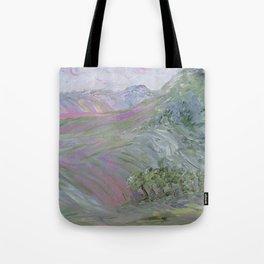 Pink Landscape Under Rosy Clouds Tote Bag