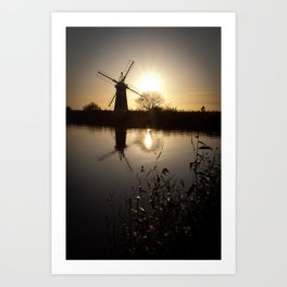 Norfolk Broads Sunset Art Print