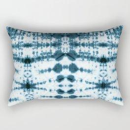 Teal Tribe Shibori Rectangular Pillow