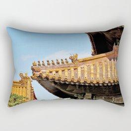Forbidden City Rooftops Beijing China Rectangular Pillow