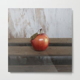 Apple on a Vintage Crate Metal Print