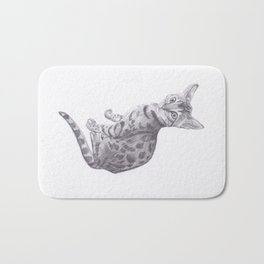 Bengal Cat Drawing Bath Mat