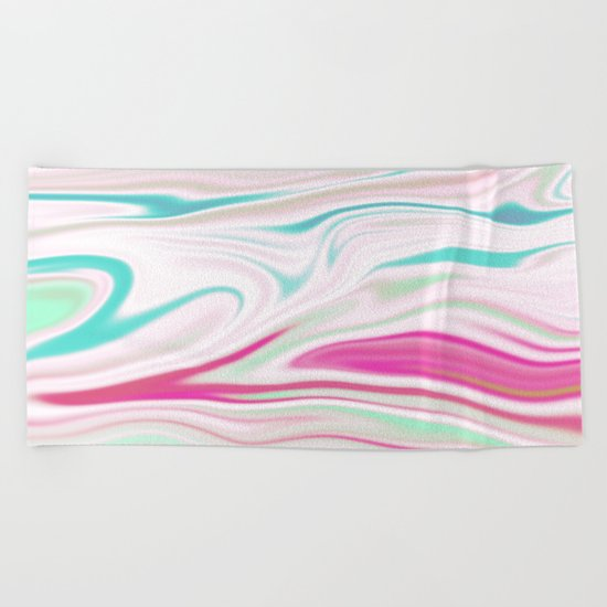 Iridescent Marble 14 Beach Towel