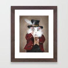 Simon Cranberry the Victorian Guinea Pig Framed Art Print