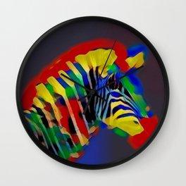 Abstract Rainbow Zebra Wall Clock