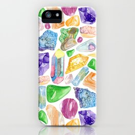 Crystals & Stones iPhone Case