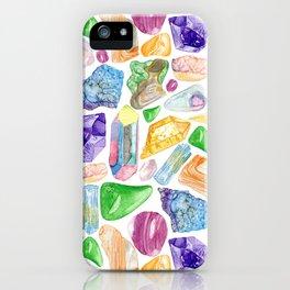 Crystals & Stones iPhone Case