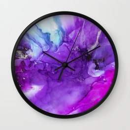 Love Alcohol Ink Painting Wall Clock