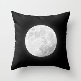 CHALK WHITE MOON Throw Pillow