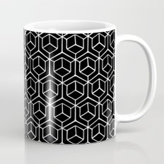 Hand Drawn Hypercube Black Coffee Mug
