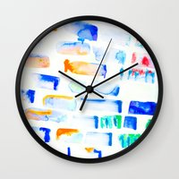 stripe Wall Clocks featuring Stripe by Amy Sia