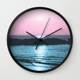 Sunset Ocean Bliss #5 #nature #art #society6 Wall Clock
