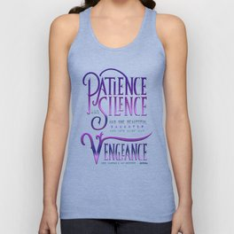 PATIENCE AND SILENCE Unisex Tank Top