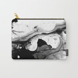Soft Black Marble Carry-All Pouch