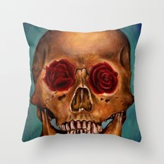 Memento Mori Skull Throw Pillow