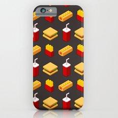 Isometric junk food pattern Slim Case iPhone 6s
