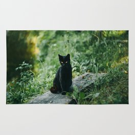 Lucky Black Cat Rug