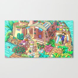 Flower Shop on The Water Canvas Print