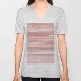 Geode Crystal Rose Gold Pink Unisex V-Neck