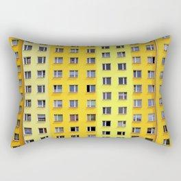 Yellow Urban Geometry Rectangular Pillow