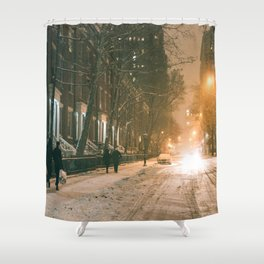 Winter - New York City - Snows Falls - Washington Square Shower Curtain