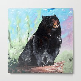 Animal - Courage of a Bear - by LiliFlore Metal Print