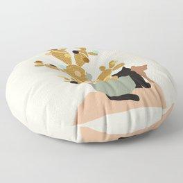 Merry Cat-Mas #cactus #Christmas Floor Pillow