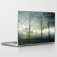 sailboat Laptop & iPad Skins featuring Sailboat by Fine2art