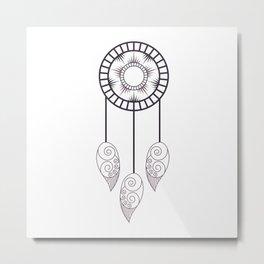 Dreamcatcher spider web charm Metal Print